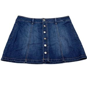 American Eagle Front Button Jean Skirt
